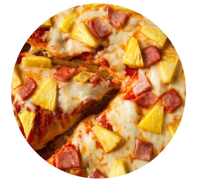 pizza z ananasem
